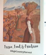 Fresco The Harvest commissioned by Pizzini family
